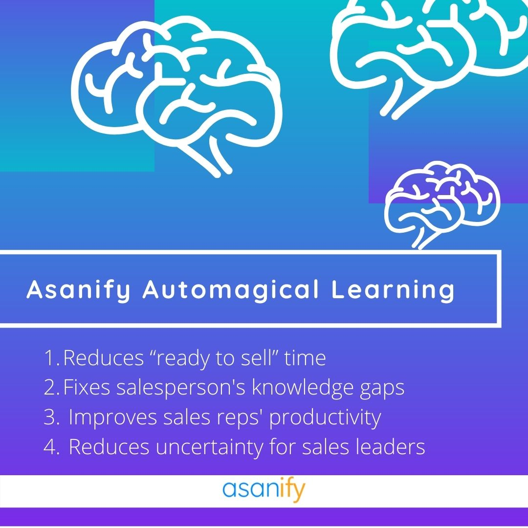Asanify automagical learning in sales onboarding