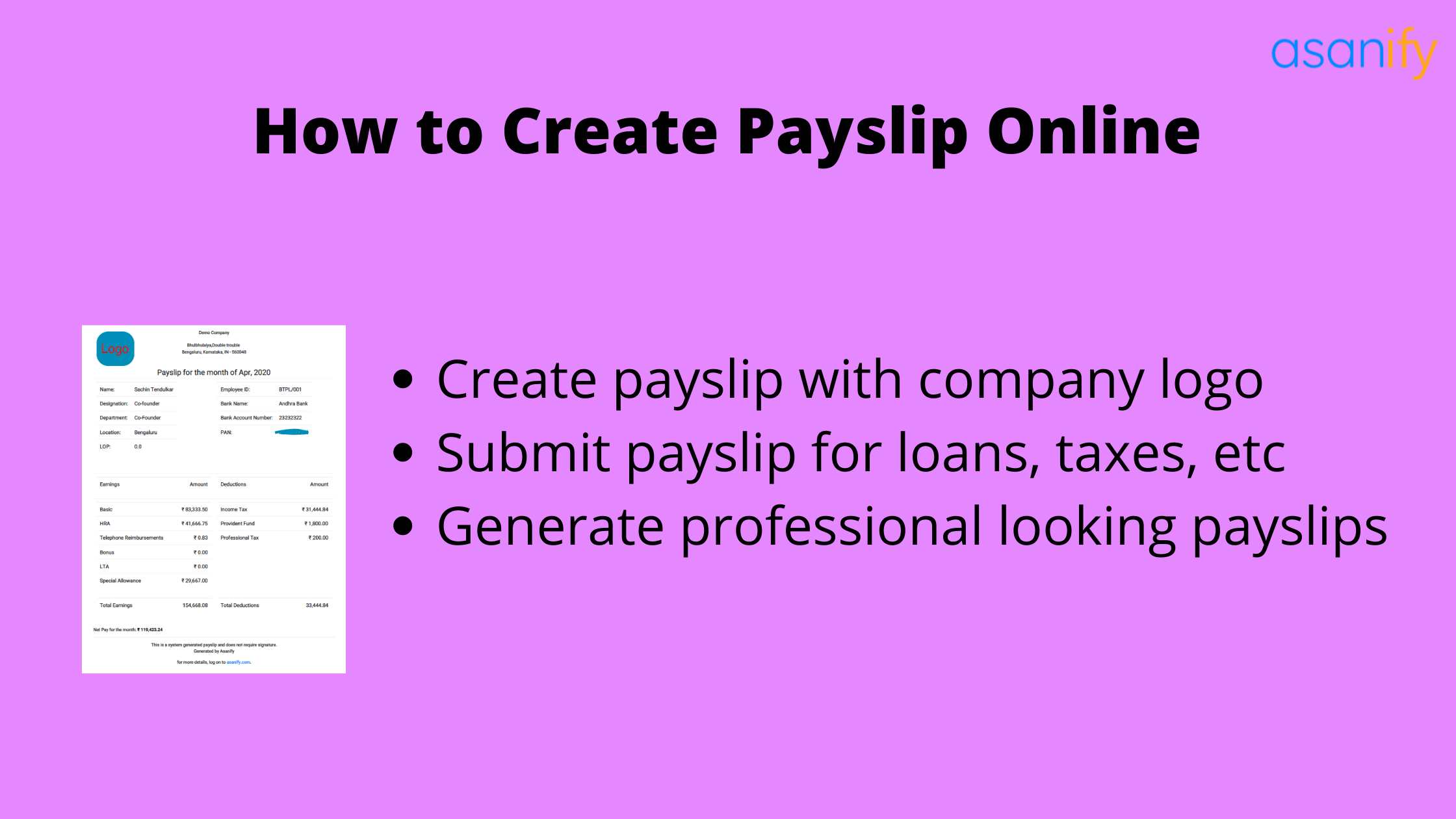 Online Payslip generator: How to Create Payslip Online